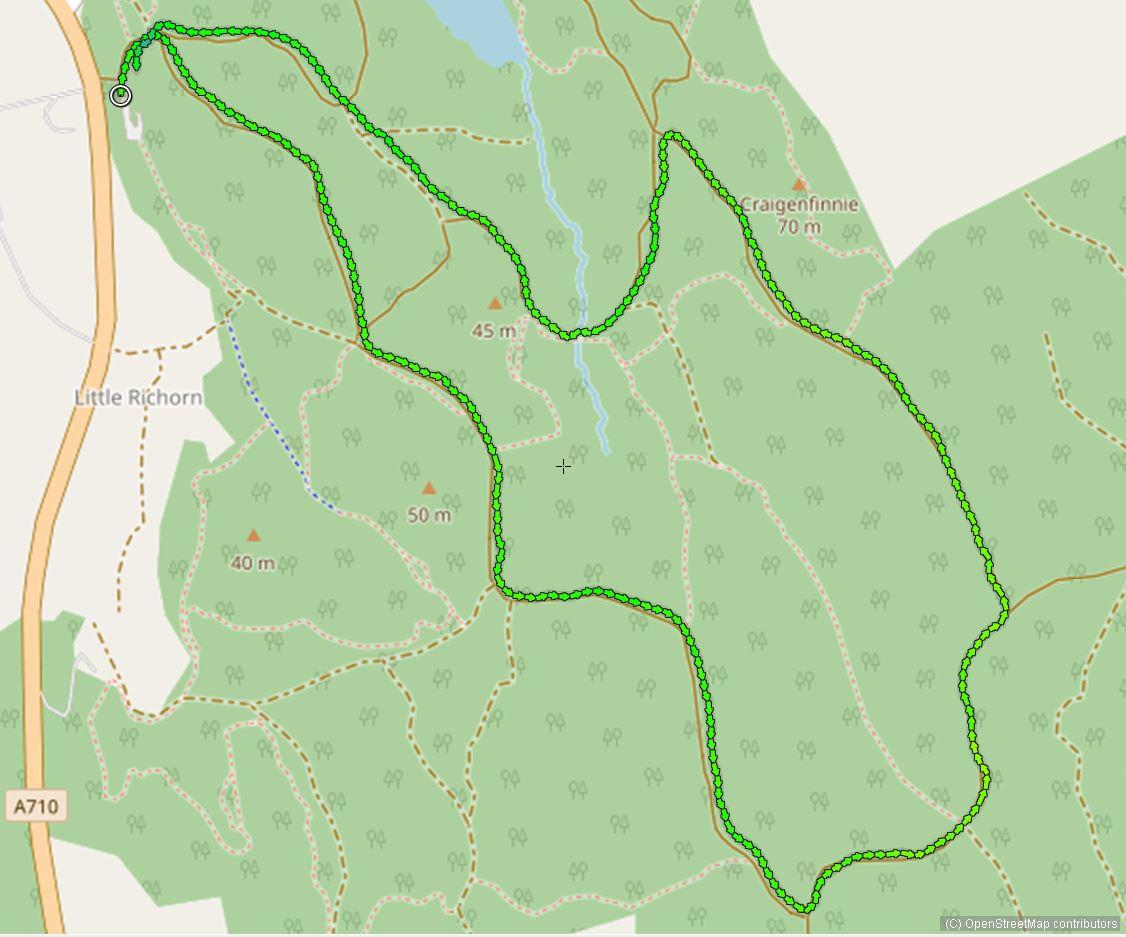 Walk Dalbeattie town wood loop 1